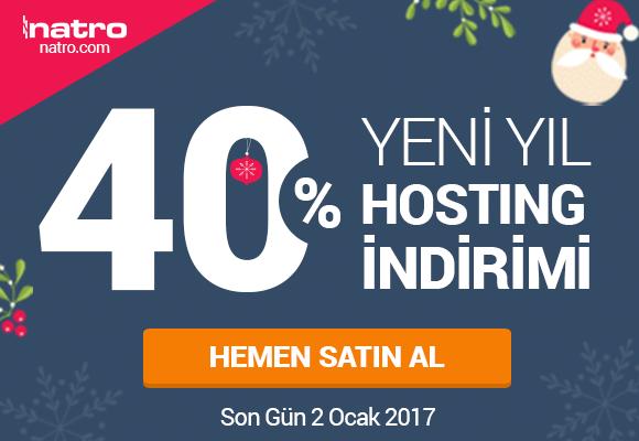 Yeni Yıla Özel %40 Hosting İndirim Kampanyası