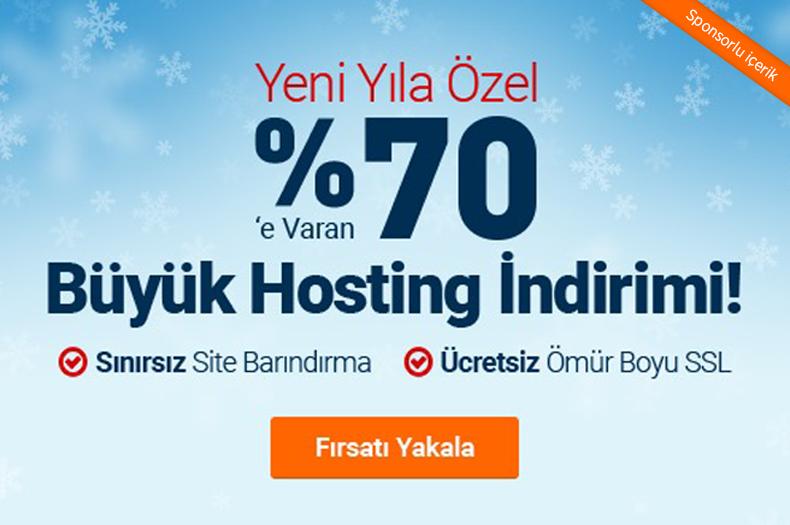 Yeni Yıla Özel %70 Hosting İndirimi İle Sınırsız Web Sitesi Barındırabilirsiniz!
