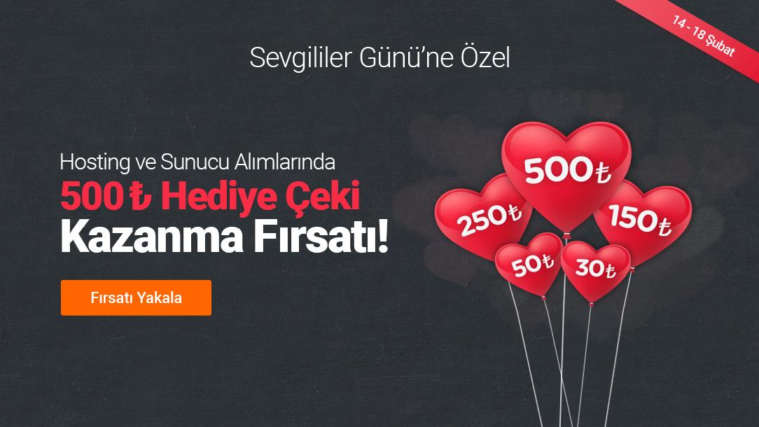 Sevgililer Günü'ne Özel 500 TL Hediye Çeki Fırsatı!