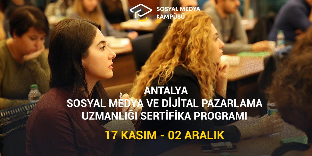 Antalya Sosyal Medya ve Dijital Pazarlama Uzmanlığı Eğitimi başlıyor!